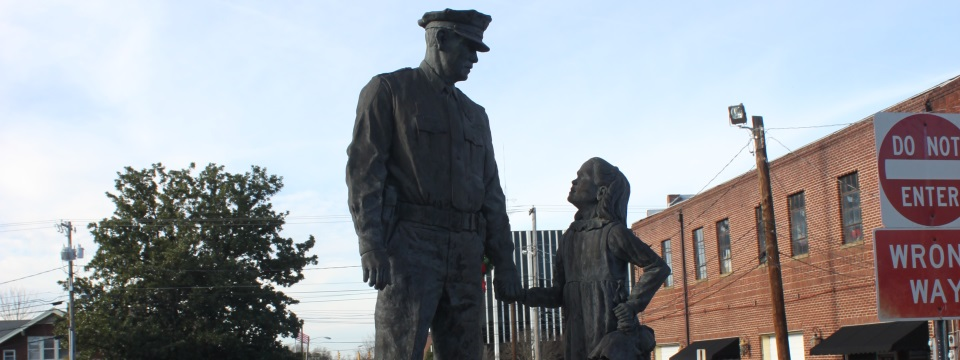 Police Statue in Lexington